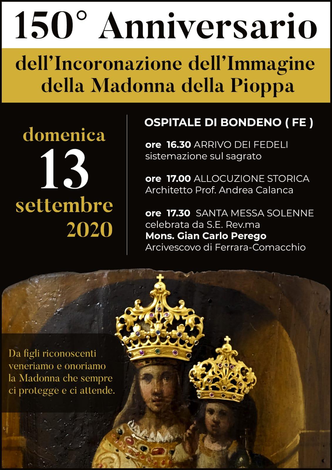 150° Anniversario dell'incoronazione dell'immagine della Madonna della pioppa